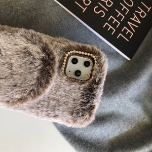 Furry Luxury Diamond Winter Shockproof Protective Designer iPhone Case For iPhone SE 11 Pro Max X XS Max XR 7 8 Plus - Casememe.com
