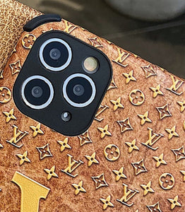 Louis Vuitton Style Corner Protection Leather Shockproof Protective Designer iPhone Case For iPhone 12 SE 11 Pro Max X XS Max XR 7 8 Plus - Casememe.com