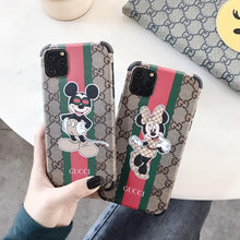 Load image into Gallery viewer, GC Style Luxury Corner Protection Shockproof Designer iPhone Case For iPhone 12 SE 11 Pro Max X XS Max XR 7 8 Plus - Casememe.com