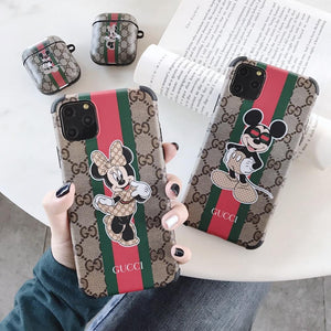 GC Style Luxury Corner Protection Shockproof Designer iPhone Case For iPhone 12 SE 11 Pro Max X XS Max XR 7 8 Plus - Casememe.com