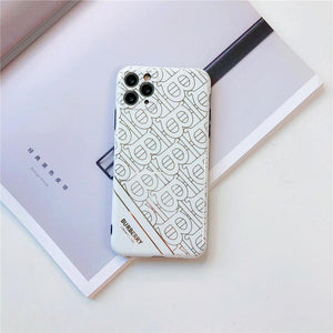 Burberry Style Electroplating Glossy TPU Silicone Designer iPhone Case For iPhone 12 SE 11 Pro Max X XS XS Max XR 7 8 Plus - Casememe.com