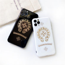 Load image into Gallery viewer, Chrome Hearts Style Electroplating Glossy TPU Silicone Designer iPhone Case For iPhone 12 SE 11 Pro Max X XS XS Max XR 7 8 Plus - Casememe.com