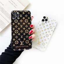 Load image into Gallery viewer, Louis Vuitton Style Electroplating Glossy TPU Silicone Designer iPhone Case For iPhone 12 SE 11 Pro Max X XS XS Max XR 7 8 Plus - Casememe.com