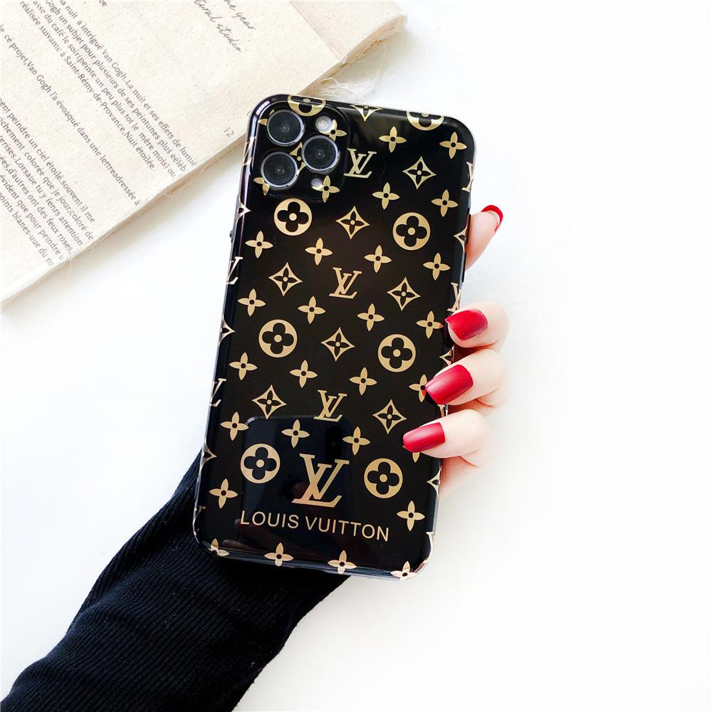 Louis Vuitton Style Electroplating Glossy TPU Silicone Designer iPhone Case For iPhone 12 SE 11 Pro Max X XS XS Max XR 7 8 Plus - Casememe.com