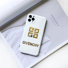 Load image into Gallery viewer, Givenchy Style Electroplating Glossy TPU Silicone Designer iPhone Case For iPhone 12 SE 11 Pro Max X XS XS Max XR 7 8 Plus - Casememe.com