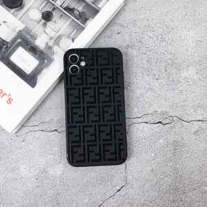 Fendi Style Silicone Shockproof Protective Designer iPhone Case For iPhone 12 SE 11 Pro Max X XS Max XR 7 8 Plus - Casememe.com