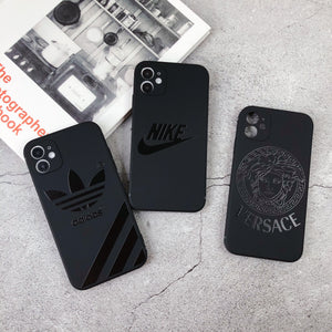 Nike Style Silicone Shockproof Protective Designer iPhone Case For iPhone 12 SE 11 Pro Max X XS Max XR 7 8 Plus - Casememe.com