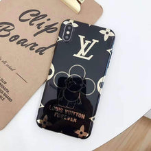 Load image into Gallery viewer, Louis Vuitton Style Takashi Murakami Electroplating Glossy TPU Silicone Designer iPhone Case For iPhone X XS XS Max XR 7 8 Plus - Casememe.com
