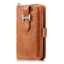Load image into Gallery viewer, Hermes Style Luxury Retro Leather Phone Bag Magnetic Cases for iPhone X XS XR XSMax 7 8 Plus Multifunctional 2 in 1 Wallet Cover - Casememe.com