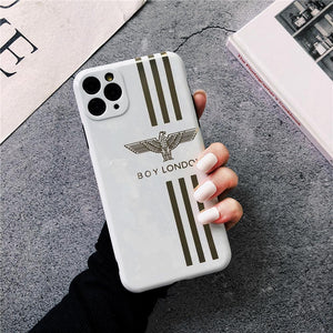 Boy London Style Electroplating Glossy TPU Silicone Designer iPhone Case For iPhone 12 SE 11 Pro Max X XS XS Max XR 7 8 Plus - Casememe.com