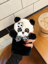 Load image into Gallery viewer, Cute Furry 3D Panda Shockproof Protective Designer iPhone Case For iPhone SE 11 Pro Max X XS Max XR 7 8 Plus - Casememe.com