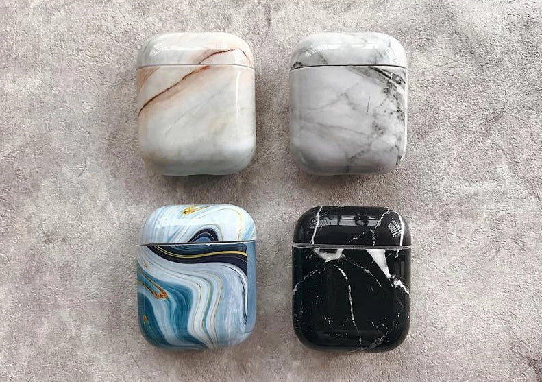 Fancy Marble Hard Protective Shockproof Case For Apple Airpods 1 & 2 - Casememe.com
