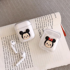 Disney Mickey Minnie Mouse Hard Clear Protective Shockproof Case For Apple Airpods 1 & 2 - Casememe.com