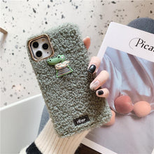 Load image into Gallery viewer, Cute Crocodile Furry Shockproof Protective Designer iPhone Case For iPhone SE 11 Pro Max X XS Max XR 7 8 Plus - Casememe.com