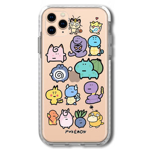 Pokemon Style Clear Silicone Shockproof Protective Designer iPhone Case For iPhone SE 11 Pro Max X XS Max XR 7 8 Plus - Casememe.com