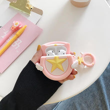 Load image into Gallery viewer, Sailor Moon Star Wing Silicone Protective Shockproof Case For Apple Airpods 1 & 2 - Casememe.com