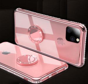 Jewel Ring Holder Bumper Frame Designer iPhone Case For iPhone SE 11 Pro Max X XS XS Max XR 7 8 Plus - Casememe.com