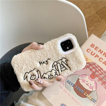 Load image into Gallery viewer, Stitched Piggy Furry Shockproof Protective Designer iPhone Case For iPhone SE 11 Pro Max X XS Max XR 7 8 Plus - Casememe.com