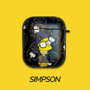 Simpson Style Hard Protective Case For Apple Airpods 1 & 2 - Casememe.com