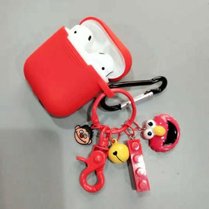 Sesame Street Style Elmo Cookie Silicone Protective Shockproof Case For Apple Airpods 1 & 2 - Casememe.com