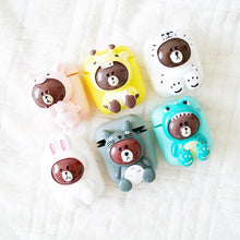 Load image into Gallery viewer, LINE Friends Bear Silicone Protective Shockproof Case For Apple Airpods 1 & 2 - Casememe.com