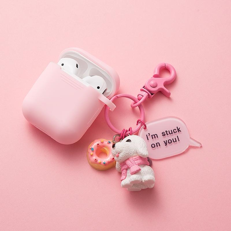 Doggy Keychain Silicone Protective Case For Apple Airpods Pro - Casememe.com