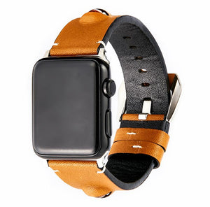 3D Eye Yellow Leather Compatible With Apple Watch 38mm 40mm 42mm 44mm Band Strap For iWatch Series 4/3/2/1 - Casememe.com