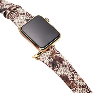 GC Style Bee Leather Compatible With Apple Watch 38mm 40mm 42mm 44mm Band Strap For iWatch Series 4/3/2/1 - Casememe.com