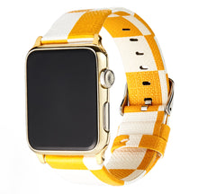 Load image into Gallery viewer, Luxury Style Yellow Damier Leather Compatible With Apple Watch 38mm 40mm 42mm 44mm Band Strap For iWatch Series 4/3/2/1 - Casememe.com