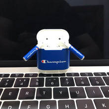 Load image into Gallery viewer, Champion Style Blue AirPods Skin Sticker Adhesive Protective Decal For Apple AirPods 1 & 2 - Casememe.com