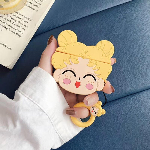 Sailor Moon Style Usagi Face Silicone Protective Shockproof Case For Apple Airpods 1 & 2 - Casememe.com