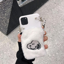 Load image into Gallery viewer, Snoopy Style Lanyard Furry Shockproof Protective Designer iPhone Case For iPhone SE 11 Pro Max X XS Max XR 7 8 Plus - Casememe.com