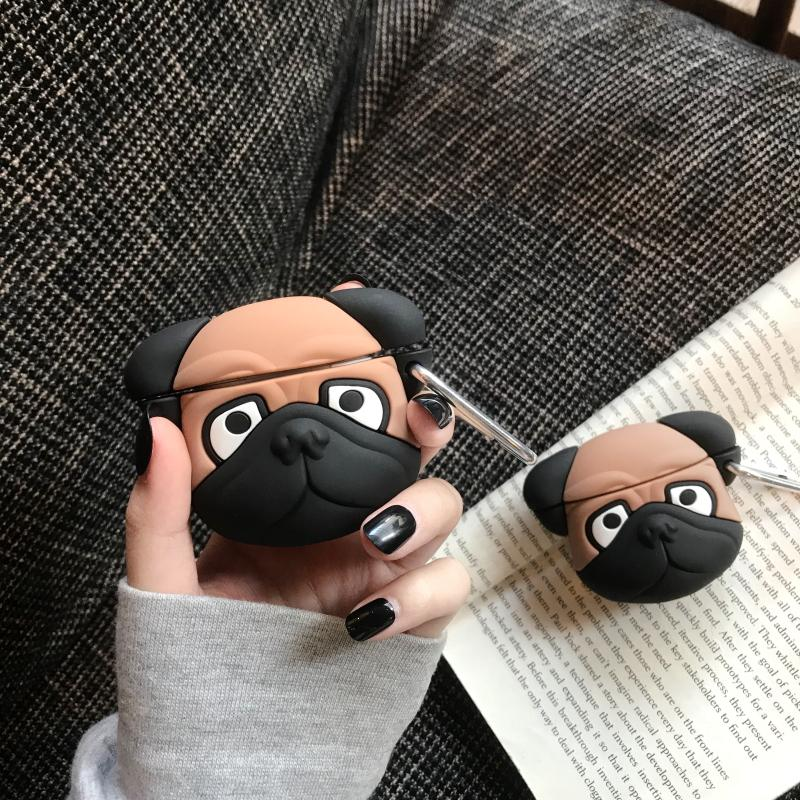 Pug Doggy Silicone Protective Case For Apple Airpods Pro - Casememe.com