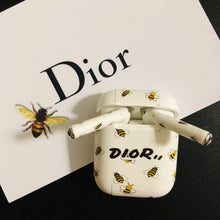 Load image into Gallery viewer, Dior Style Honeybee AirPods Skin Sticker Adhesive Protective Decal For Apple AirPods 1 & 2 - Casememe.com
