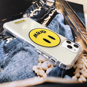 Drew House Style Clear Silicone Shockproof Protective Designer iPhone Case For iPhone 12 SE 11 Pro Max X XS Max XR 7 8 Plus - Casememe.com