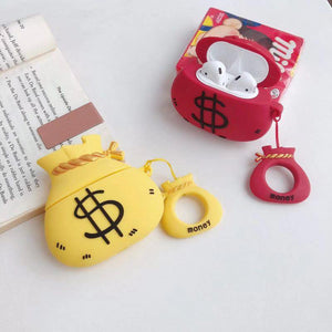 Money Bag Dollar Silicone Protective Shockproof Case For Apple Airpods 1 & 2 - Casememe.com