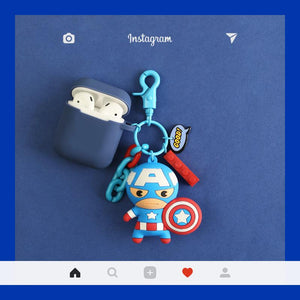 Marvel Captain America Spiderman Ironman Silicone Protective Shockproof Case For Apple Airpods 1 & 2 - Casememe.com