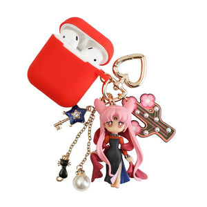 Sailor Moon Luna Usagi Tsukino Silicone Protective Shockproof Case For Apple Airpods 1 & 2