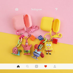 SpongeBob Patrick Star Silicone Protective Shockproof Case For Apple Airpods 1 & 2 - Casememe.com