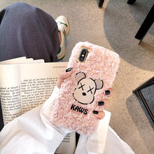 Load image into Gallery viewer, KAWS Style Furry Shockproof Protective Designer iPhone Case For iPhone SE 11 Pro Max X XS Max XR 7 8 Plus - Casememe.com