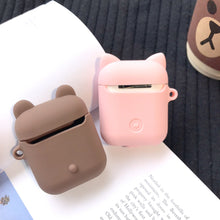 Load image into Gallery viewer, Cute Piggy Bear LINE Silicone Protective Shockproof Case For Apple Airpods 1 & 2 - Casememe.com