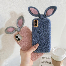 Load image into Gallery viewer, Cute Rabbit Ears Furry Shockproof Protective Designer iPhone Case For iPhone SE 11 Pro Max X XS Max XR 7 8 Plus - Casememe.com