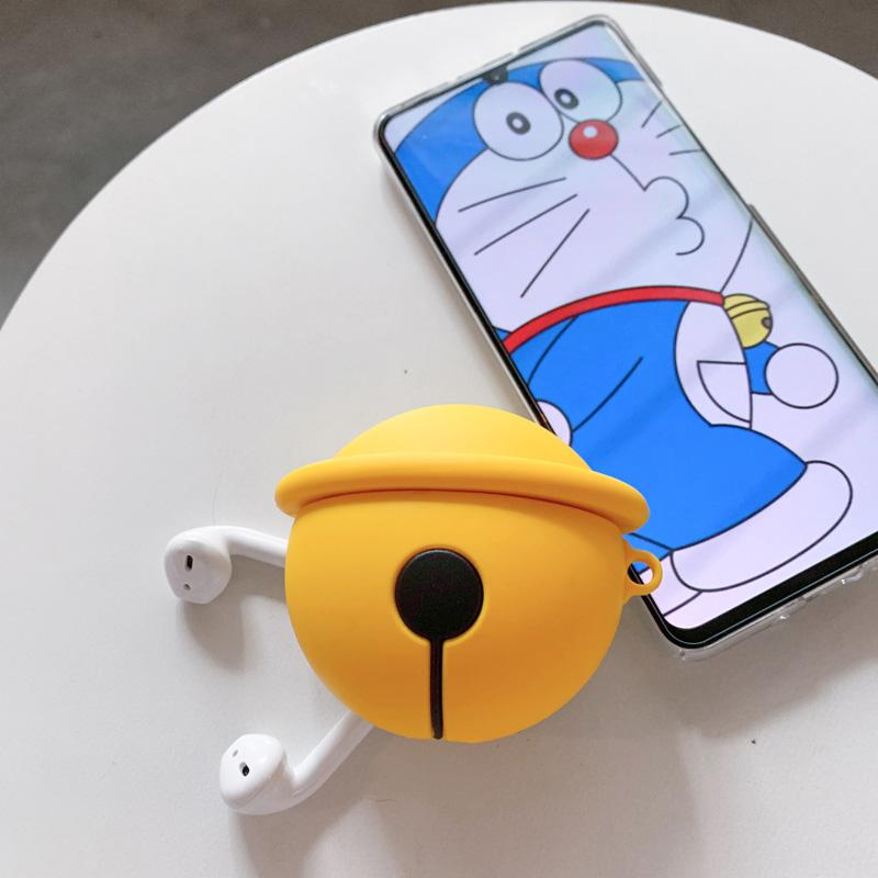 Doraemon Style Yellow Bell Silicone Protective Shockproof Case For Apple Airpods 1 & 2 - Casememe.com