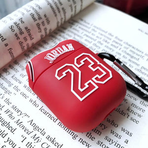 Air Jordan 23 Jersey Silicone Protective Shockproof Case For Apple Airpods 1 & 2 - Casememe.com