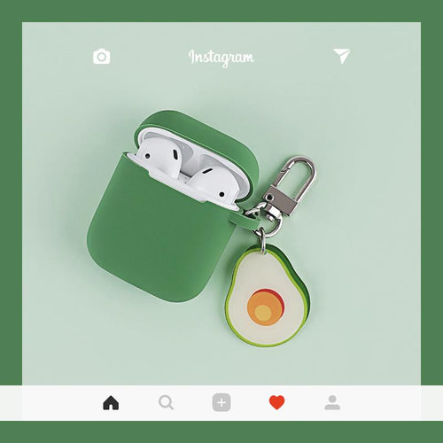 Cute Avocado Silicone Protective Shockproof Case For Apple Airpods 1 & 2 - Casememe.com