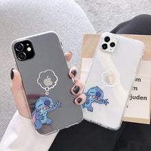 Load image into Gallery viewer, Stitch Style Clear Silicone Shockproof Protective Designer iPhone Case For iPhone SE 11 Pro Max X XS Max XR 7 8 Plus - Casememe.com