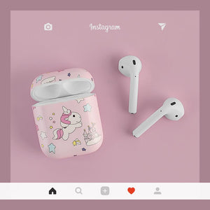 Unicorn Pink Hard Protective Shockproof Case For Apple Airpods 1 & 2 - Casememe.com
