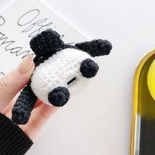 Load image into Gallery viewer, Knit Panda Protective Case For Apple Airpods 1 & 2 - Casememe.com