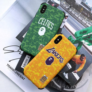Bape Style Corner Protection Silicone Shockproof Protective Designer iPhone Case For iPhone SE 11 Pro Max X XS Max XR 7 8 Plus - Casememe.com