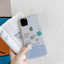 Load image into Gallery viewer, Cute Bear Clear  Silicone Shockproof Protective Designer iPhone Case For iPhone SE 11 Pro Max X XS Max XR 7 8 Plus - Casememe.com